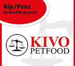 Kivo Kip&Pens natuurlijk geperste brok  15 Kg