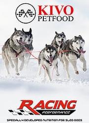 Kivo Racing Performance-SLed Dogs natuurlijk geperste brok  15 Kg
